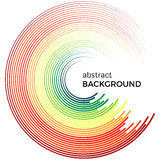 Abstract background with bright rainbow colorful lines. Royalty Free Stock Photography