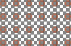 Abstract background bright red brick square cells with gray squares geometric pattern. Abstract background bright red brick square cells with gray white squares royalty free illustration