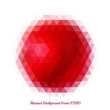 Abstract background with a bright red spot of geometric shapes. Pattern of triangles royalty free illustration