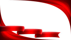 Abstract background with bright ribbon. Abstract background with bright, red ribbon Stock Photos