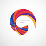 Abstract background with bright shape. Abstract background with bright multicolored curved shape on white royalty free illustration