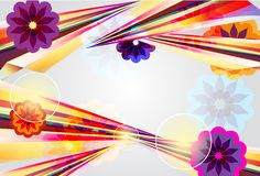 Abstract background with bright shapes Stock Photography