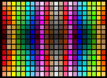 Abstract background with bright squares. Colorful abstract background with symmetrical bright squares Royalty Free Stock Photography