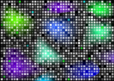 Abstract background with bright squares. Colorful abstract wallpaper background with symmetrical bright squares Stock Photo