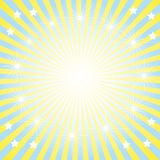 The Abstract background bright sun. The Solar morning vector illustration