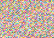 Abstract background with bright triangles. Colorful abstract disco background with symmetrical bright triangles vector illustration