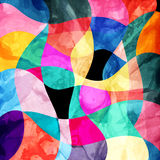 Abstract background of bright wavy design. Abstract background of bright multicolored wavy design with different elements royalty free illustration