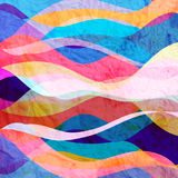 Abstract background of bright wavy design. Abstract background of bright multicolored wavy design with different elements Stock Image
