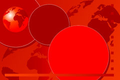 Abstract background brochure. World globe - Red tones Stock Photography