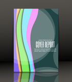 Abstract background for brochure, cover. Template for the poster. Vector. Royalty Free Stock Image