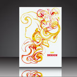 Abstract A4 background brochure flyer eps10 illustrati. On 4 stock illustration