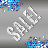 Abstract background broken mozaic with sale label Stock Images