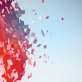 Abstract background with broken surface explosion Stock Image