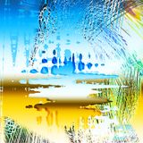 Abstract background broken waves stock photography