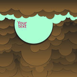 Abstract background of brown-blue clouds. Abstract vector background of brown-blue clouds Royalty Free Illustration
