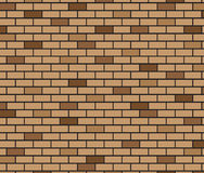 Abstract Background of Brown brick wall Stock Image
