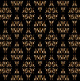 Abstract background. Of brown monogram on a black background vector illustration