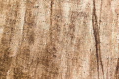 Abstract background of brown paint on canvas.  Royalty Free Stock Photography
