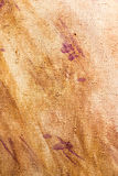 Abstract background of brown paint on canvas.  Stock Images