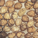 Abstract background brown river rock vintage. Stock Images