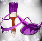 Abstract background with a brush Royalty Free Stock Photography