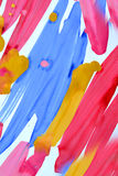Abstract background brush strips blue, pink, yellow Royalty Free Stock Photography