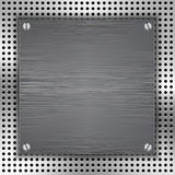 Abstract background with brushed metal inset Royalty Free Stock Images