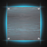 Abstract background with brushed metal inset Stock Photo
