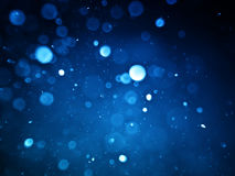 Abstract background with bubble bokeh in blue color Royalty Free Stock Photography