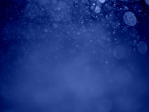 Abstract background with bubble bokeh in blue color Royalty Free Stock Photo