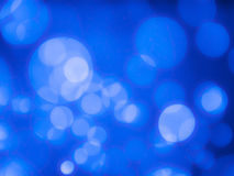 Abstract background with bubble bokeh in blue color Royalty Free Stock Image