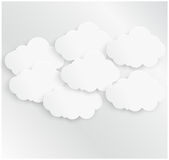Abstract background bubble. Paper. Abstract background cloud. Paper Design and illustration stock illustration