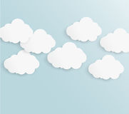 Abstract background bubble. Paper. Abstract background cloud. Paper. Design and illustration stock illustration
