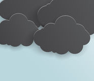 Abstract background bubble. Paper. Abstract background thunderstorm cloud. Paper. Design illustration royalty free illustration