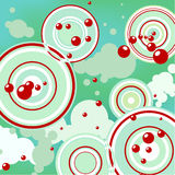 Abstract background - bubbles. Flying in the sky Royalty Free Stock Photography