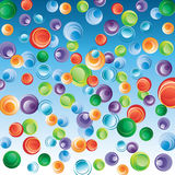 Abstract background with bubbles. Royalty Free Stock Images