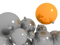 Abstract background with bubbles. Abstract background with grey and orange bubbles stock illustration