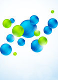 Abstract background with bubbles. Bright illustration Stock Photo