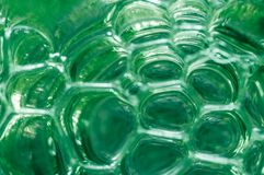 Abstract background of bubbles of green color. Stock Photo
