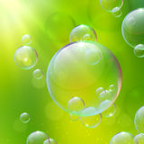 Abstract background with bubbles. Spring pattern Royalty Free Stock Photos
