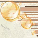 Abstract background with bubbles and stripes Royalty Free Stock Images
