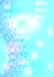 Abstract background with bubbles in water. In blue and white design Royalty Free Stock Photography