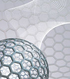 Abstract background with buckyball stock illustration