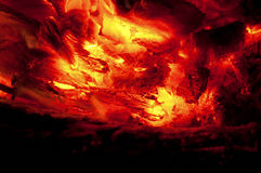 Abstract background of burning coals Stock Image