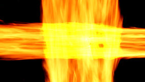 Abstract background with burning fire. Fire lines. stock video footage
