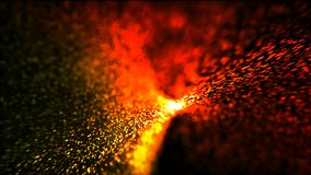 Abstract background burning hot particles.  Royalty Free Stock Photography