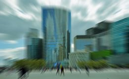 Abstract background. Business people in the street in Paris.  Ra Stock Photography