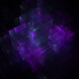 Abstract background. Abstract business science or technology background  with array of glowing cubes and rectangles hovering in empty space Royalty Free Stock Photography