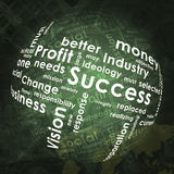 Abstract background with business words. And world map Stock Photo