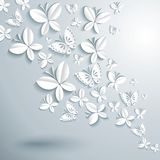 Abstract background with butterflies. Royalty Free Stock Image